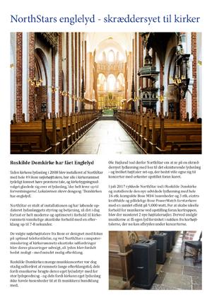 AV-løsninger i kirker fra NorthStar