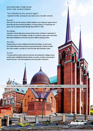 NorthStar lydløsning i Roskilde Domkirke